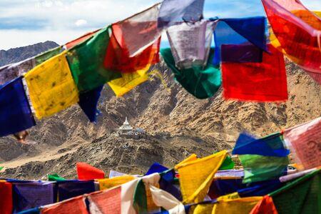 shanti: Aerial View of Shanti Stupa in Leh India