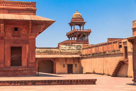 uttar: Panch Mahal in Fatehpur Sikri Uttar Pradesk India