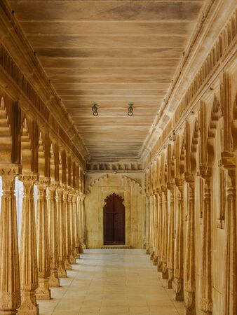 building feature: Patio at City Palace in Udaipur Rajasthan India Editorial