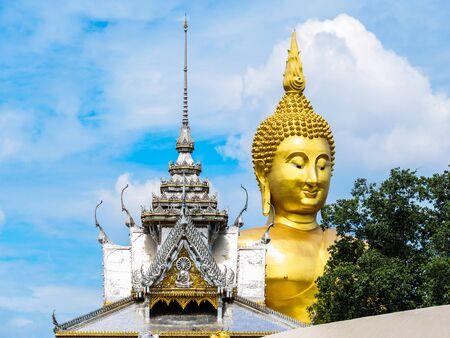 ang thong: The biggest Buddha statue at Wat Muang in Ang Thong province, Thailand Stock Photo