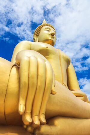 ang thong: Biggest Buddha Statue at Wat Muang in Ang Thong province, Thailand Stock Photo