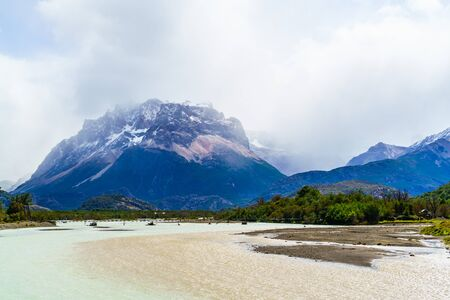 lake argentina: View of the mountain and lake in Patagonia, Argentina
