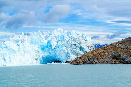 argentino: Perito Moreno Glacier at Argentino lake in Patagonia, Argentina Stock Photo