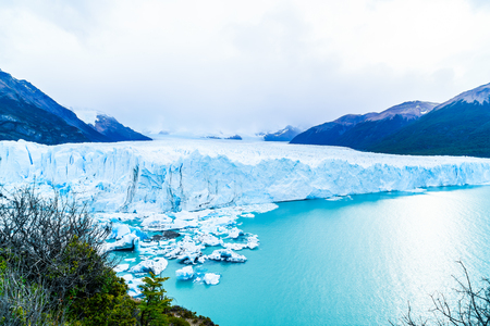 perito moreno: View of Perito Moreno Glacier in the Argentinian Patagonia, Argentina Stock Photo