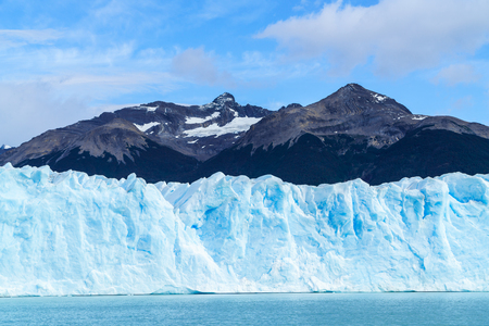argentinian: Front view of Perito Moreno Glacier in Argentinian Patagonia Argentina