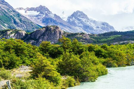 el chalten: Mountain at the Los Graciares National Park in Argentina Stock Photo