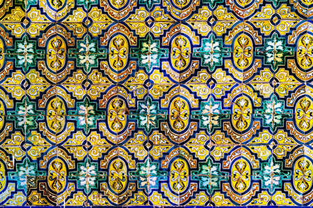 florish: Peru style ceramic pattern at a temple in Lima, Peru