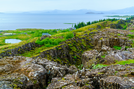 Iceland summer landscape at Thingvellir National Park in Southwestern Iceland