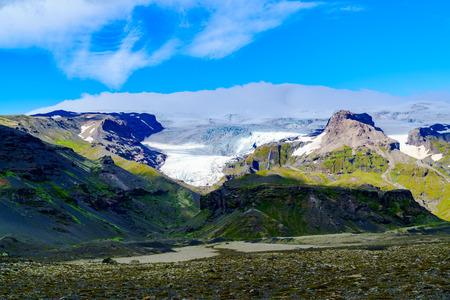 voluminous: View of Vatnajokull or Vatna Glacier, the largest and most voluminous ice cap in Iceland Stock Photo