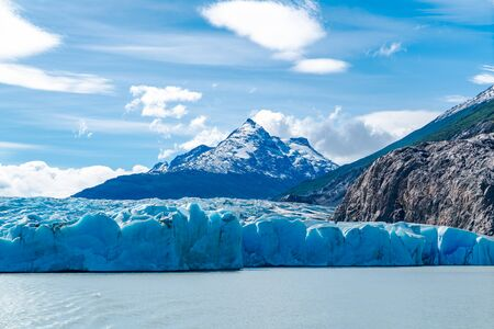 Lago Grey and Grey Glacier one of the largest ice fields outside of the poles, Chile