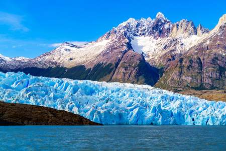 Grey Glacier at the Grey Lake in southern patagonia ice field, Chile