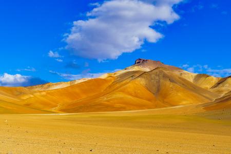 avaroa: View of colorful mountain and desert in Reserva Nacional De Fauna Andina Eduardo Avaroa Potasi, Bolivia