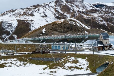 Water reservoir near the way to Jungfrau, switzerland Фото со стока