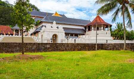 Buddhist Temple of the Tooth Relic in Kandy, Sri Lanka