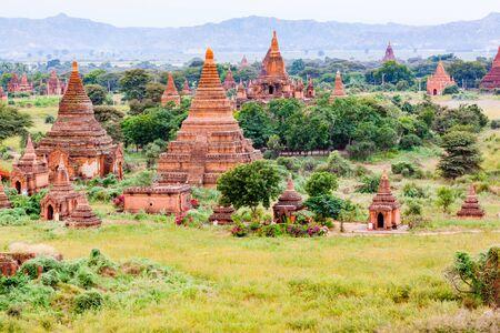 View of pagoda in the Plain of Bagan in Myanmar