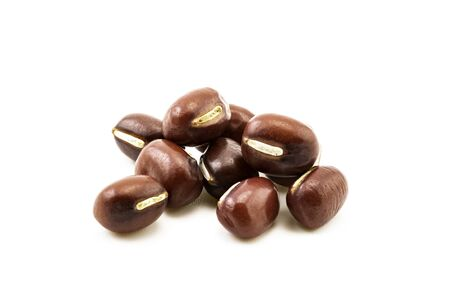 Pile of red beans isolated on white background
