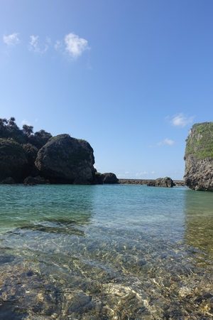 landlocked: water surface of a small cove in north part of Ogami island