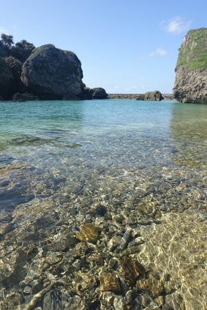 water surface of a small cove in north part of Ogami island