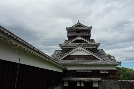 Utoyagura in front of Kumamoto castle, Kumamoto, Japan