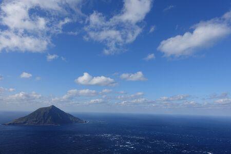 look down: look down an island in the ocean