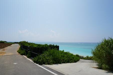 gi: GI beach entrance in southern Ie island in Okinawa, Japan