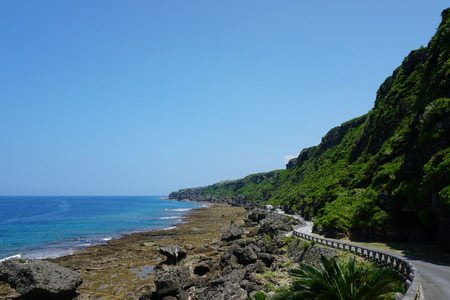 ie: Wajee coast in northern Ie island, Okinawa, Japan