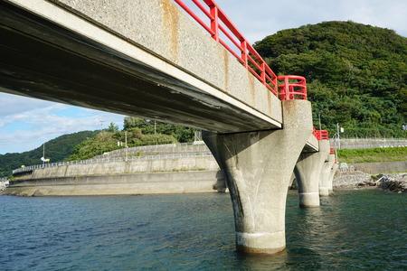 footing: close up of Akebono bridge side view, Itoigawa city, Niigata, Japan