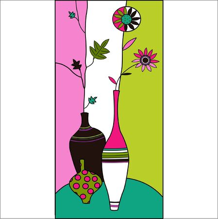 vase of flowers: vase