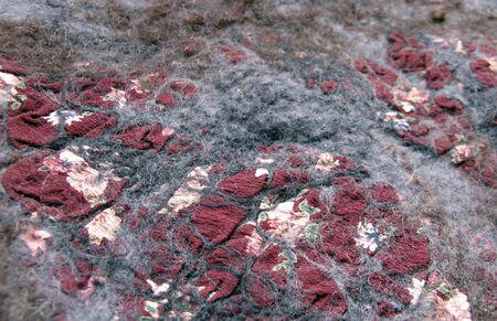 hand-made felt background texture