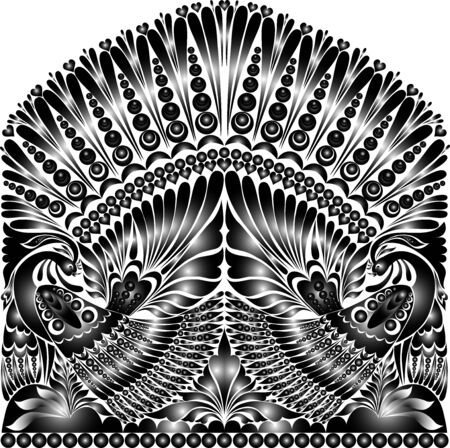 tattoo russian ornament. folklore ornament withe bird