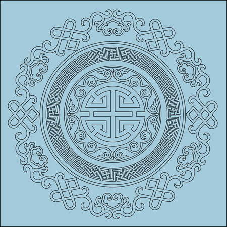 vector oriental chinese ornament, asian traditional pattern, floral vintage element, cut silhouette, ornament central asia, applique work, for t-shirt, mongolian ornament. laser cutting