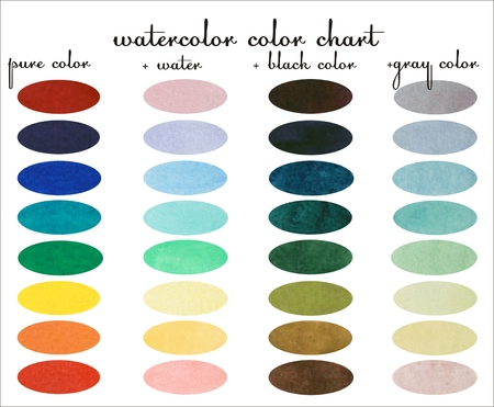 watercolor design sample, Watercolor hand painted circles collection Imagens