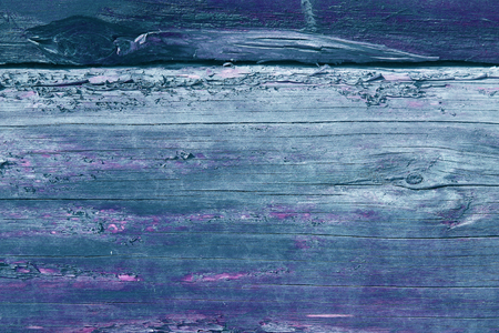 Abstract background of an old wooden wall with a bright texture. background of wooden plank texture wall with selected tone color paint ultraviolet