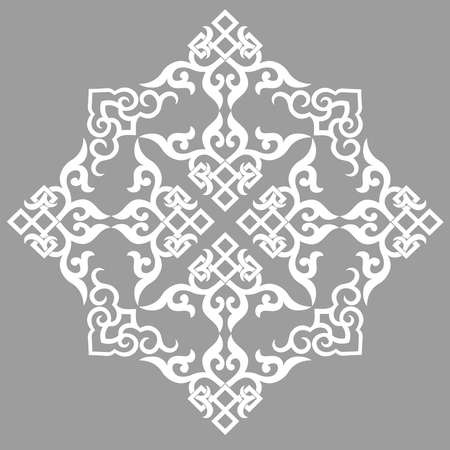 vector oriental chinese ornament, asian traditional pattern, floral vintage element