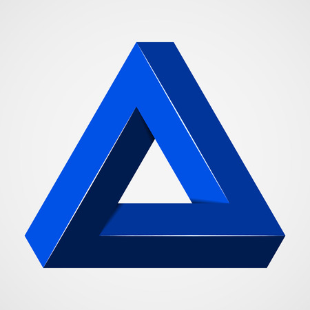 Blauwe paradox trigon Stock Illustratie