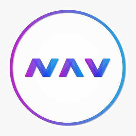 nav: Navcoin sign icon, internet money Illustration