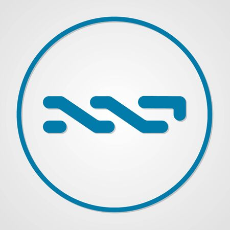 Nxt coin cryptocurrency. Vector sign icon. Internet money