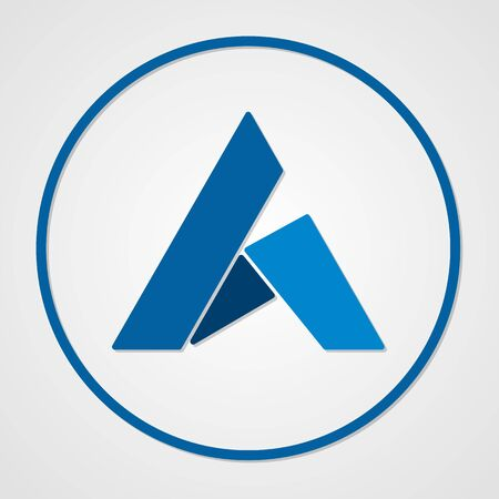 Ardor coin cryptocurrency. Vector sign icon. Internet money Çizim
