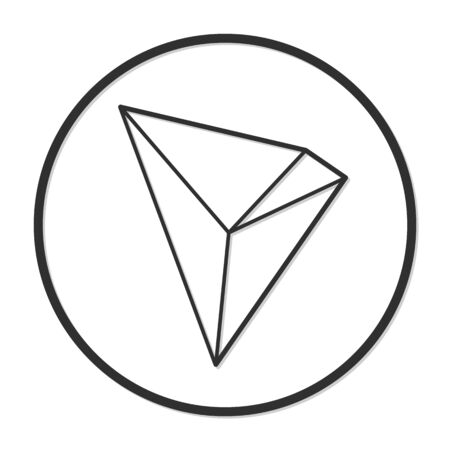 Tron coin cryptocurrency. Vector sign icon. Internet money Çizim