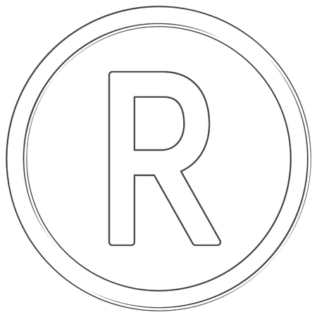 Vector rand sign Line art icon