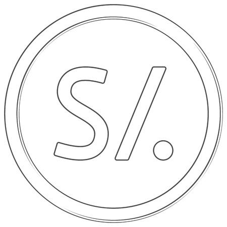 Vector sol sign Line art icon