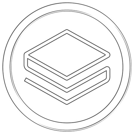 Stratis - cryptocurrency coin. Vector thin line icon. Lineart illustration on white background. Internet money