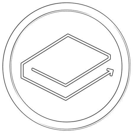 Lbry - cryptocurrency coin. Vector thin line icon. Lineart illustration on white background. Internet money