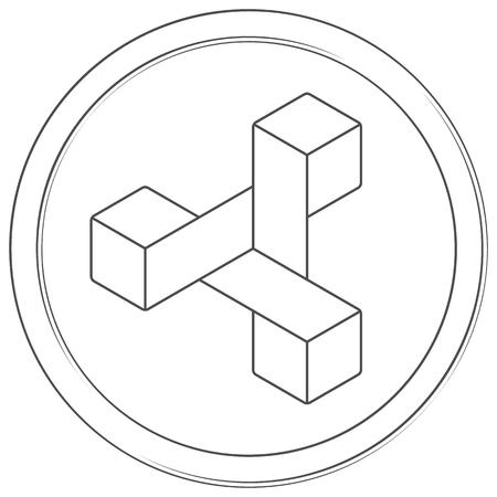 Zencash - cryptocurrency coin. Vector line zencash icon. Lineart illustration on white background. Internet money