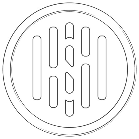 Hush - cryptocurrency coin. Vector thin line icon. Lineart illustration on white background. Internet money Çizim