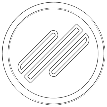 Signatum - cryptocurrency coin. Vector thin line icon. Lineart illustration on white background. Internet money