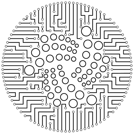 Iota - cryptocurrency coin. Vector thin line design single isolated icon. Lineart illustration on white background Çizim