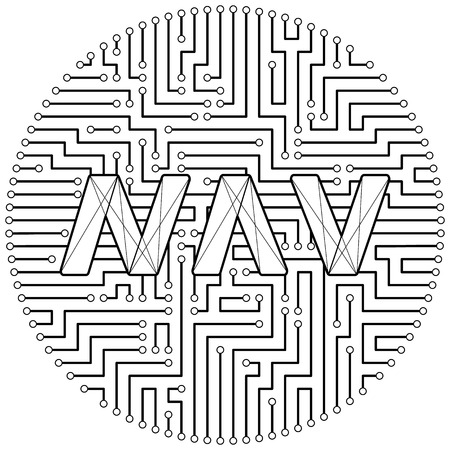 Navcoin - cryptocurrency coin. Vector thin line design single isolated icon. Lineart illustration on white background