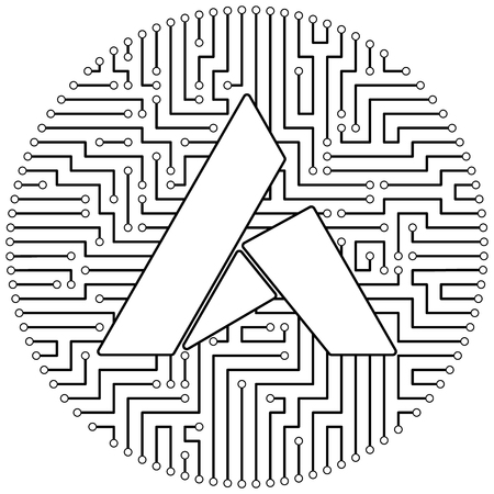 Ardor - cryptocurrency coin. Vector thin line design single isolated icon. Lineart illustration on white background