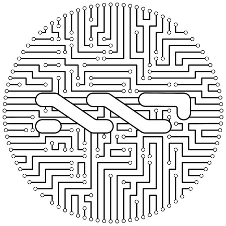 Nxt - cryptocurrency coin. Vector thin line design single isolated icon. Lineart illustration on white background